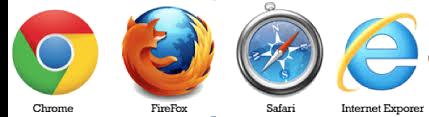 Browsers: Chrome, Firefox, Safari and Internet Explorer