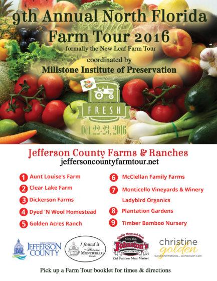 Flyer for Farm Tour 2016